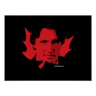 Trudeau Maple Leaf - Red -.png Poster