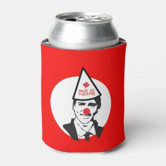 Trudeau Tiens ma bière Clown Canada Humour Can Cooler