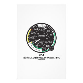 True Airspeed Indicator (ICE-T Mnemonic) Personalized Stationery