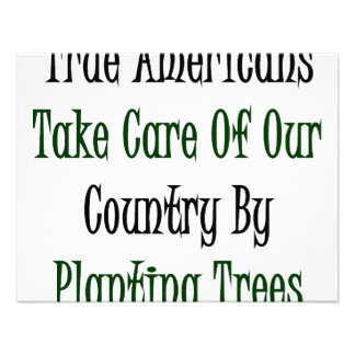 True Americans Take Care Of Our Country By Plantin Custom Invite