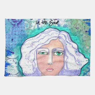 True Beauty is Love Refl002.jpg Tea Towel