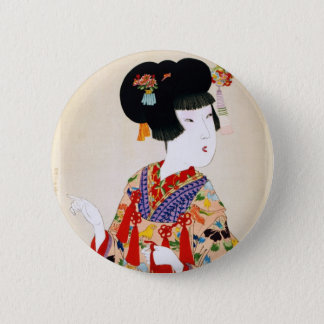 True Beauty Vintage Japanese Print 6 Cm Round Badge
