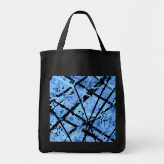 TRUE BLUE!  (an abstract art design) ~ Grocery Tote Bag