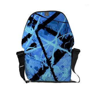 TRUE BLUE (an abstract art design) ~ Messenger Bag
