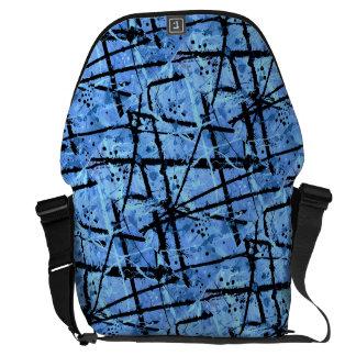 TRUE BLUE!  (an abstract art design) ~ Courier Bag