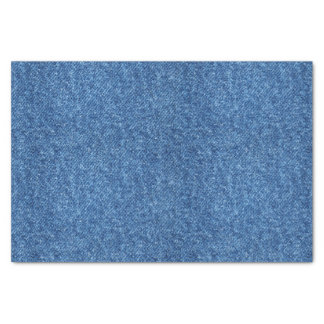 True Blue Denim Jeans Pattern Background Fabric Tissue Paper
