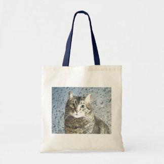 True Blue Kitty Tote Bag