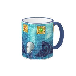 true blue ringer coffee mug