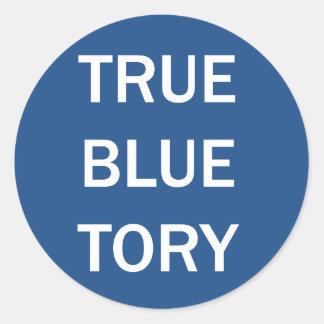 True Blue Tory Classic Round Sticker