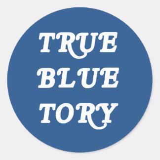True Blue Tory Round Sticker