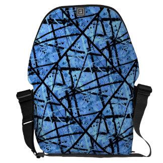 TRUE BLUE variant (an abstract art design) ~ Messenger Bag