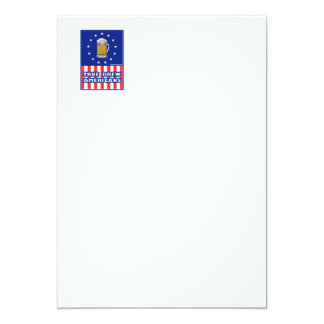 True Brew Americans 5x7 Paper Invitation Card