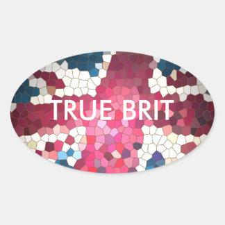 True Brit mosaic sticker