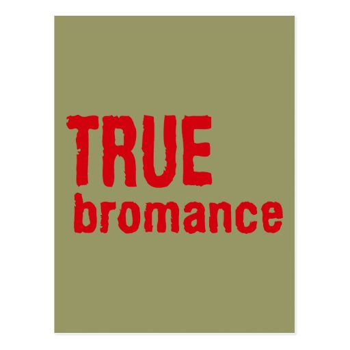 True Bromance (Red) Postcard