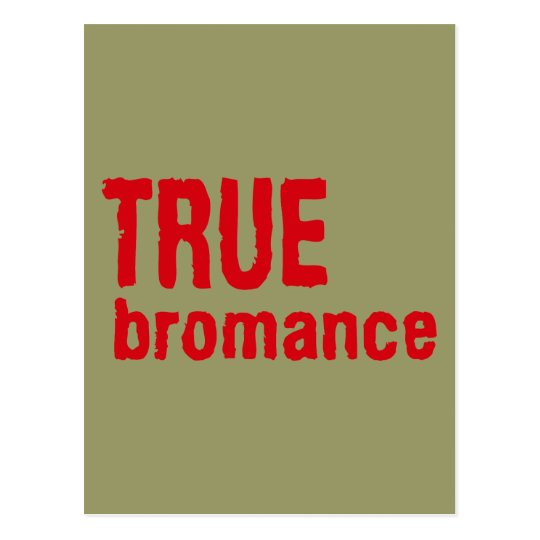 True Bromance (Red) Postcard