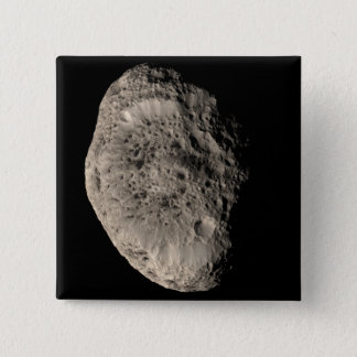 True color mosaic of Saturn's moon Hyperion 15 Cm Square Badge