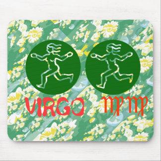 True Color Virgo Zodiac Symbol Mousepad