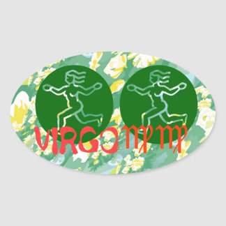 True Color: Virgo Zodiac Symbol Oval Sticker