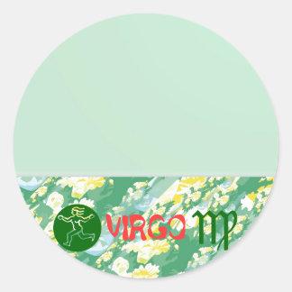 True Color: Virgo Zodiac Symbol Round Sticker