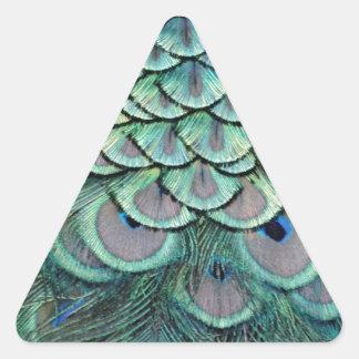 True Colors Peafowl Feathers Triangle Sticker