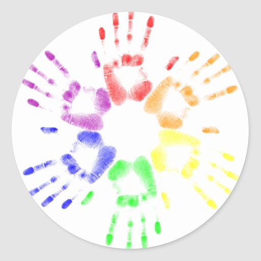 True Colors Round Sticker