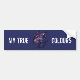 True Colours Aussie Bumper Sticker