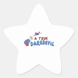 True Daredevil Star Sticker