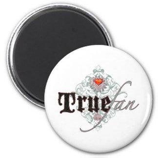 True Fan 6 Cm Round Magnet