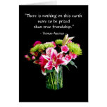 True Friend Happy Birthday, Stargazer Lily Bouquet Greeting Card