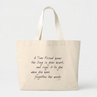 True Friend Large Tote Bag