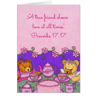 True Friend-Love all times~Bears Party~Scriptures Note Card