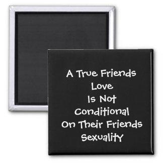 True Friends Love Square Magnet