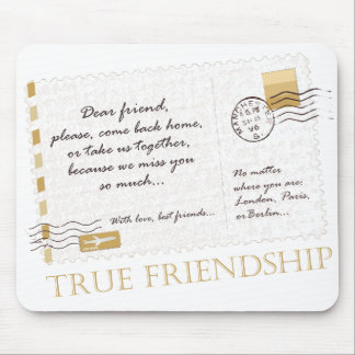 True Friendship Mouse Mat