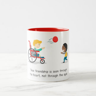 True friendships Two-Tone coffee mug
