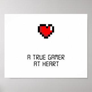 True Gamer at Heart Poster