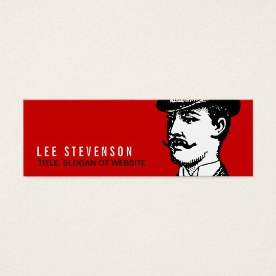 True Gentleman Card Vintage Hipster Red and Black