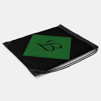 True Green Velvet Personalized Home Casino Drawstring Backpacks