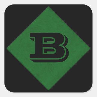 True Green Velvet Personalized Home Casino Square Sticker