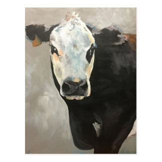 True Grit Cow Post Card