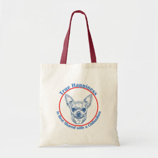 True Happiness with a Chihuahua Tote Bag