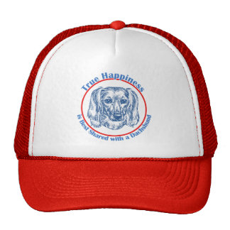 True Happiness with a Dachshund (Longhair) Mesh Hat