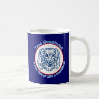 True Happiness with a Dachshund (Longhair) Coffee Mugs
