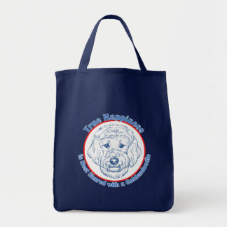 True Happiness with a Goldendoodle Tote Bag