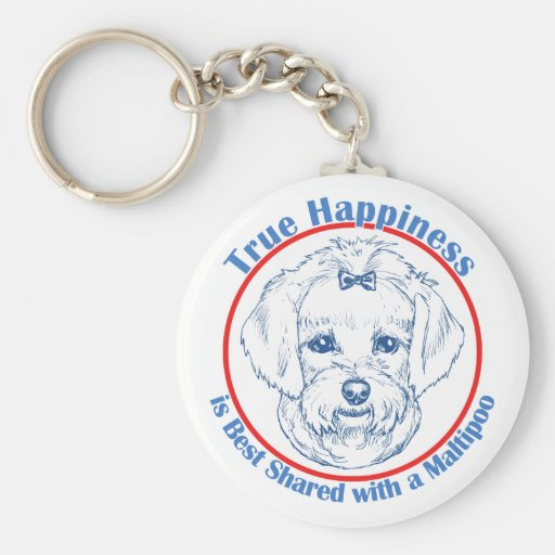 True Happiness with a Maltipoo Keychain