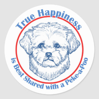 True Happiness with a Peke-a-Poo Stickers