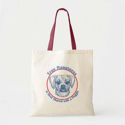 True Happiness with a Puggle Tote Bag