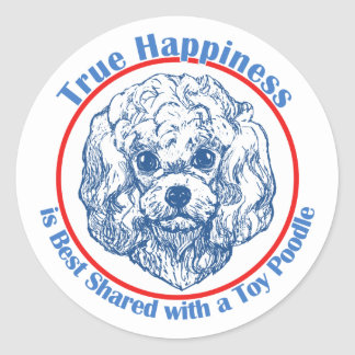 True Happiness with a Toy Poodle Sticker