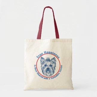 True Happiness with a Yorkshire Terrier Tote Bag