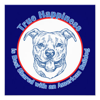 True Happiness with an American Bulldog Invites