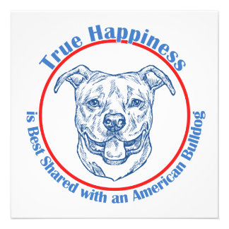 True Happiness with an American Bulldog Announcements